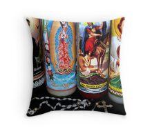 Religious Candles Throw Pillow