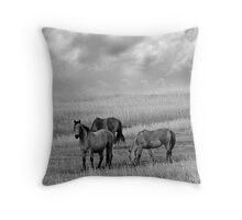 Horses on the Great Plains Throw Pillow