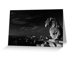 Gargoyle, Notre Dame, Paris Greeting Card