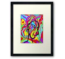 The Smoking Man Framed Print