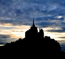 Mont St Michel at Sunset by April Anderson