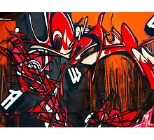 Vision in Red and Black- Graffiti Photographic Print