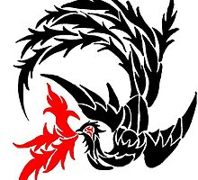 Tribal Phoenix by redqueenself