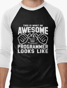 This is What an AWESOME PROGRAMMER JAVA Looks Like Men's Baseball ¾ T-Shirt
