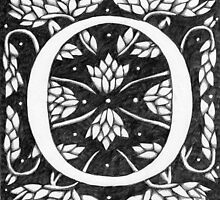 """Art Nouveau """"O"""" (William Morris Inspired) by Donna Huntriss"""