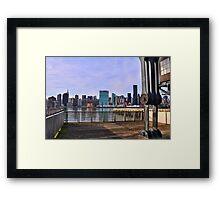 Manhattan View From Long Island City Framed Print