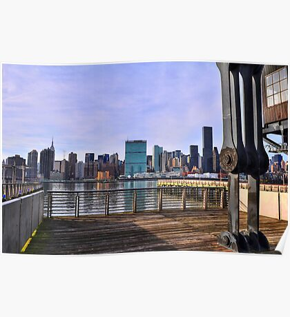 Manhattan View From Long Island City Poster