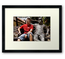 Son And Iron Man Framed Print
