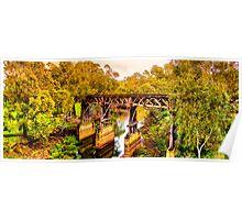 New South Wales - The Gundagai rail bridge Poster