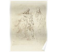Drawing - Actor in the Role of Pantalone, Rembrandt Harmensz. van Rijn, 1633 - 1637  Poster