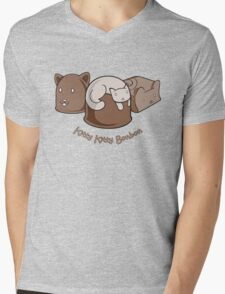 Kitty Kitty Bonbon Mens V-Neck T-Shirt