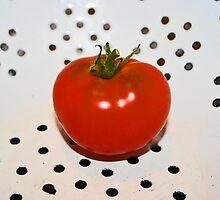 ...tomato in colander... by Lynne Prestebak