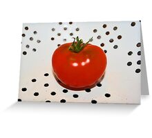 ...tomato in colander... Greeting Card
