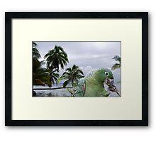 1401-XL-Green Chewy Framed Print