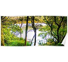 Tasmania - Lilla lake at Cradle Mountain Poster