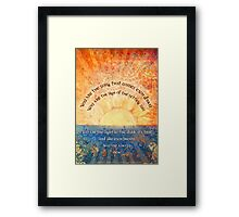 You Are the Song Framed Print