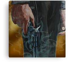 Gunfighter, oil on canvas Canvas Print