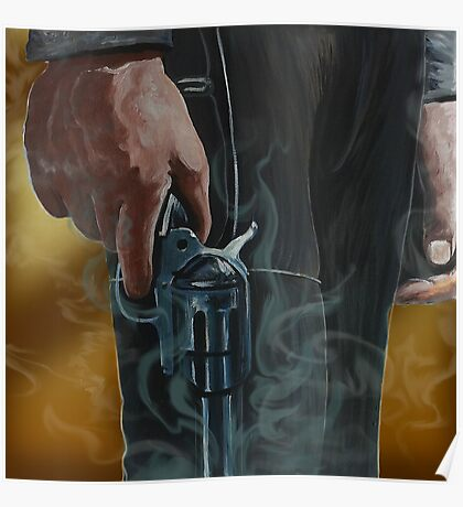 Gunfighter, oil on canvas Poster