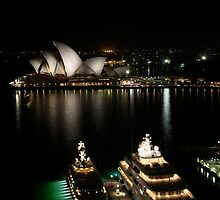 Super-villain yachts in Sydney Harbour by Rick Grundy