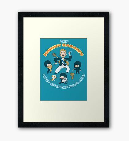 Super Awesome Ninja Army Framed Print