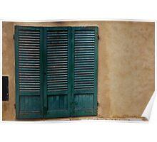 Patina Door on Stucco Poster