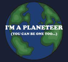 I'm a planeteer! Kids Tee