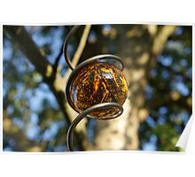 Reflection in Amber Orb Poster
