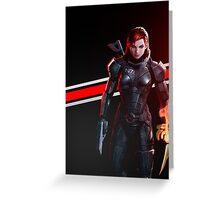 Mass Effect - Femshep Case Greeting Card