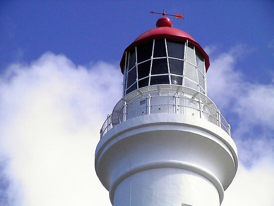 White Queen - Split Point Lighthouse Cape Otway by Rhonda F.  Taylor