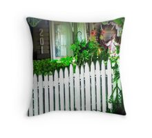 Forgotten cottage Throw Pillow