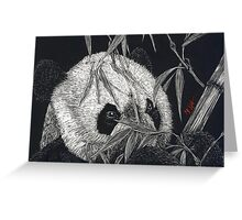 Panda Claybord (big) Greeting Card
