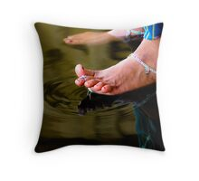 Motion is tranquility. Throw Pillow