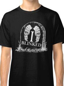 Doctor Who I Blinked Gravestone Classic T-Shirt