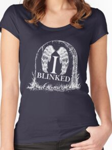 Doctor Who I Blinked Gravestone Women's Fitted Scoop T-Shirt