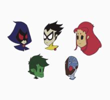 Teen Titans Chibi Set Kids Clothes