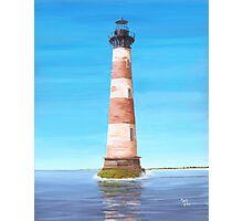Morris Island Lighthouse Charleston SC A001 Photographic Print