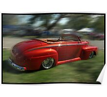 1948 Ford Convertible Custom Low Rider Poster
