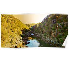 Tasmania - Cataract Gorge at sunset Poster