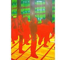Red and Yellow Inferno Dancefloor Photographic Print