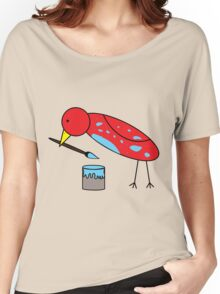Bird Brush Women's Relaxed Fit T-Shirt