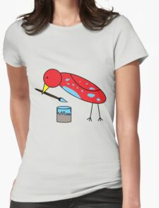 Bird Brush Womens Fitted T-Shirt