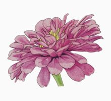 Pink Floral Grid Kids Tee