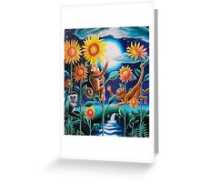 """""""The Moon and the Monkeys"""" Greeting Card"""