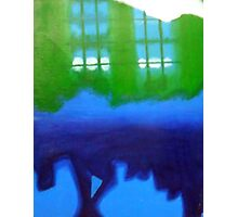 Blue and Green Inferno Photographic Print