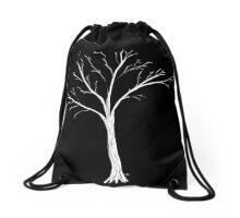 White Tree Drawstring Bag