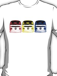 VW Kombi - Red Yellow Blue T-Shirt