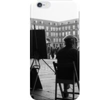 Dibujante en la Plaza Mayor iPhone Case/Skin