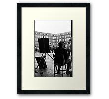 Dibujante en la Plaza Mayor Framed Print