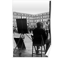 Dibujante en la Plaza Mayor Poster