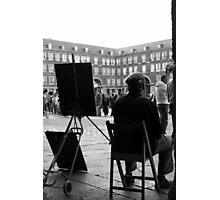 Dibujante en la Plaza Mayor Photographic Print
